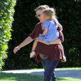 Jennifer Garner et sa fille Seraphina, le 1er janvier 2012 à Los Angeles.