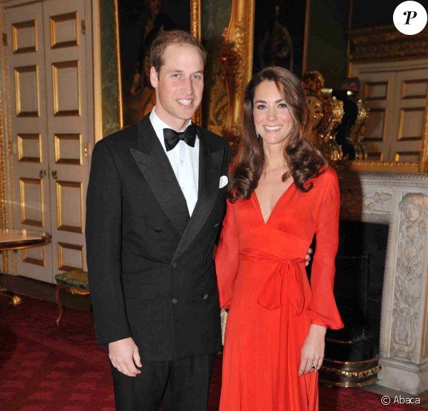Le prince William et Kate à Londres, le 13 octobre 2011.