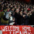 Les supporters des Gunners avaient préparé des banderoles pour leur idole Thierry Henry le 9 janvier 2012 à Londres