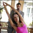 Ricardo Chavira et Eva Longoria sur le tournage de Desperate Housewives en janvier 2008
