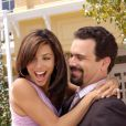 Eva Longoria et Ricardo Chavira en 2004 sur le tournage de Desperate Housewives