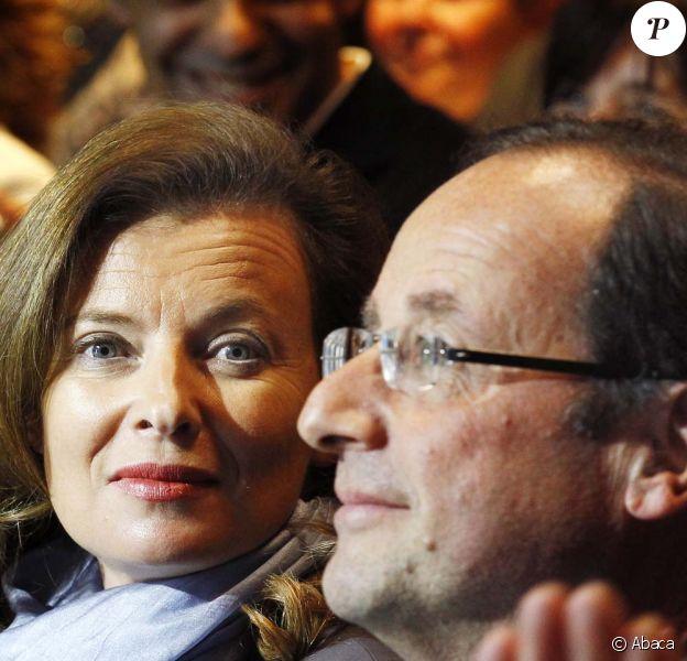 Valérie Trierweiler et François Hollande à Tulle, le 7 janvier 2012.
