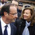 Valérie Trierweiler et François Hollande à Jarnac, le 7 janvier 2012.