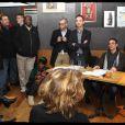Rachida Dati participe à un débat de quartier dans le XIXe arrondissement de Paris, le 18 janvier 2012.