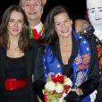 La princesse Stéphanie de Monaco et sa fille Pauline Ducruet lors du 36e Festival International du cirque de Monte-Carlo à Monaco le 20 janvier 2012