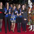 Pauline Ducruet, sa mère la princesse Stéphanie de Monaco, Camille Gottlieb et la fille de la princesse Caroline de Hanovre Alexandra lors du 36e Festival International du cirque de Monte-Carlo à Monaco le 20 janvier 2012
