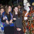 La fille de la princesse Stephanie Camille Gottlieb et la fille de la princesse Caroline de Hanovre Alexandra de Hanovre lors du 36e Festival International du cirque de Monte-Carlo à Monaco le 20 janvier 2012