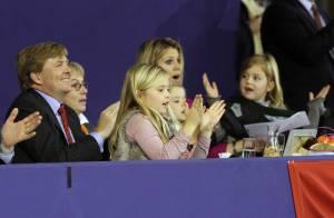 La princesse Maxima, son mari et leurs trois filles réunis pour bondir d'émotion