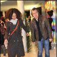 Sonia Rolland et Eric Viellard lors de la projection privée du téléfilm Toussaint Louverture, à Paris, le 18 janvier 2012