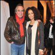 Philippe Lavil et Sonia Rolland lors de la projection privée du téléfilm Toussaint Louverture, à Paris, le 18 janvier 2012