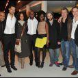 Photo de groupe lors de la projection privée du téléfilm Toussaint Louverture, à Paris, le 18 janvier 2012