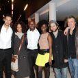 Photo de groupe lors de la projection privée de Toussaint Louverture, diffusé en février sur France 2. A Paris, le 18 janvier 2012