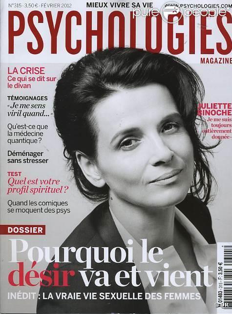Le magazine Psychologies du mois de février 2012