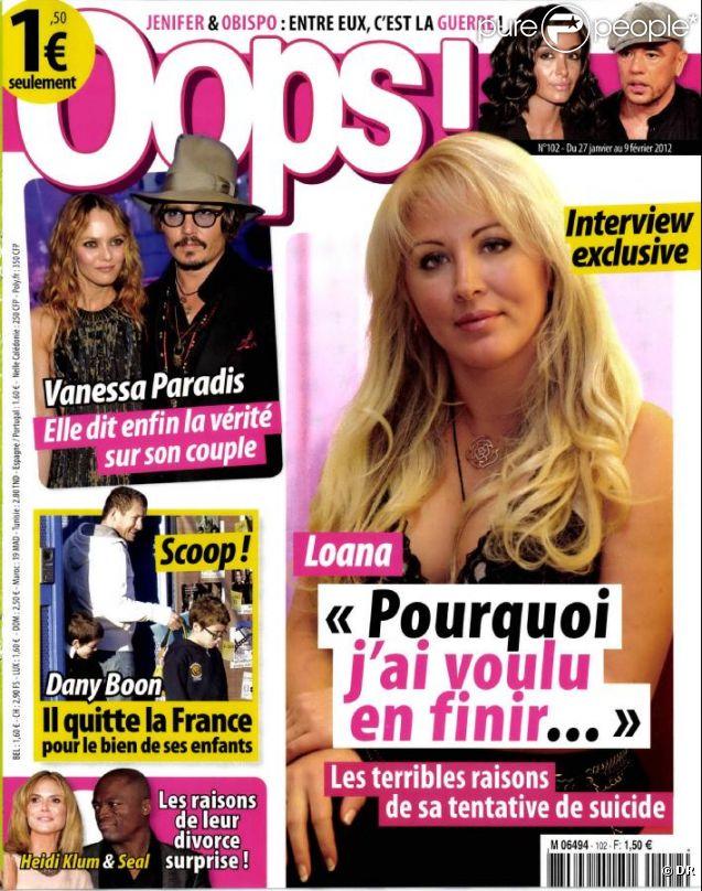 Loana en couverture de Oops! en kiosques le vendredi 27 janvier 2012