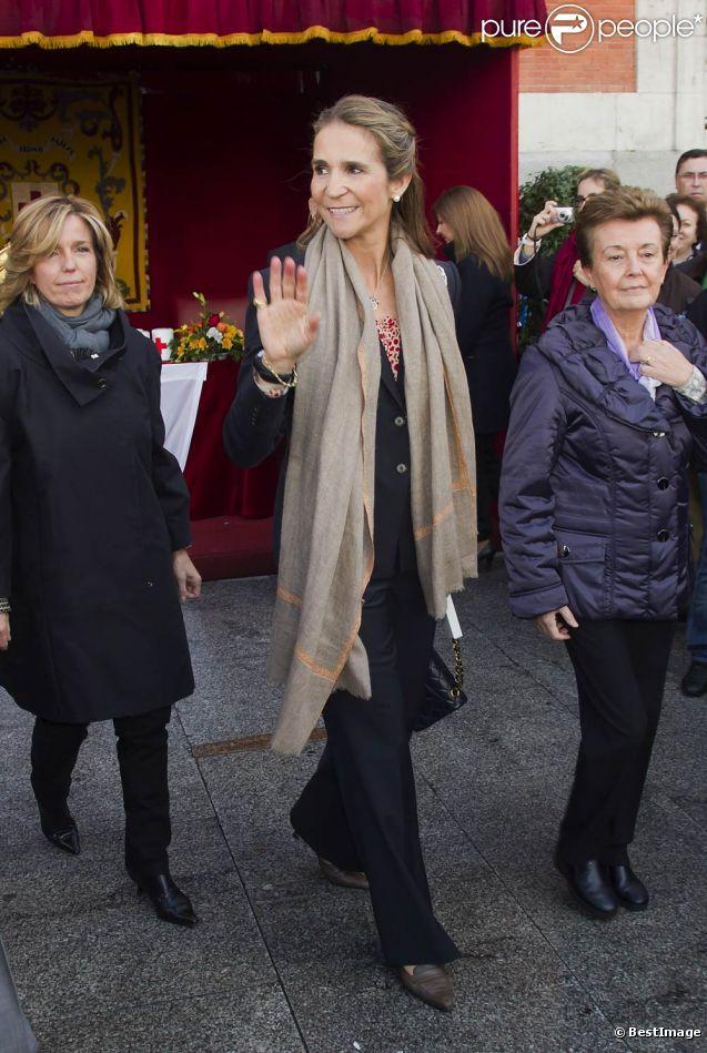 L'infante Elena d'Espagne en novembre 2011. A cette date, le scandale Noos n'a pas encore éclaté, et elle ne cherche pas à se cacher d'une presse avide...