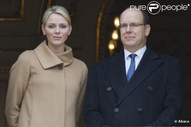 La princesse Charlene et le prince Albert de Monaco lors des célébrations de sainte Dévote, le 27 janvier 2012. Le 1er février, la princesse Charlene, en présence de son mari, inaugurait le premier lieu à son nom, à Monaco : le Foyer de l'Enfance Princesse Grace.