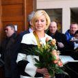 Katherine Heigl, gâtée, au sein de la mairie d'Esslingen en Allemagne le 3 février 2012