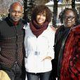 Jimmy Jean-Louis, Sonia Rolland et Magloire lors du 14ème Festival de Luchon, le 9 février 2012