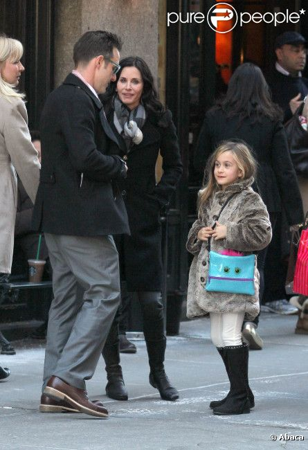 David Arquette, Courteney Cox et leur petite Coco ont déjeuné au  Balthazar  à SoHo à New York le 13 février 2012