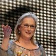 Meryl Streep honorée au festival de Berlin, en février 2012.