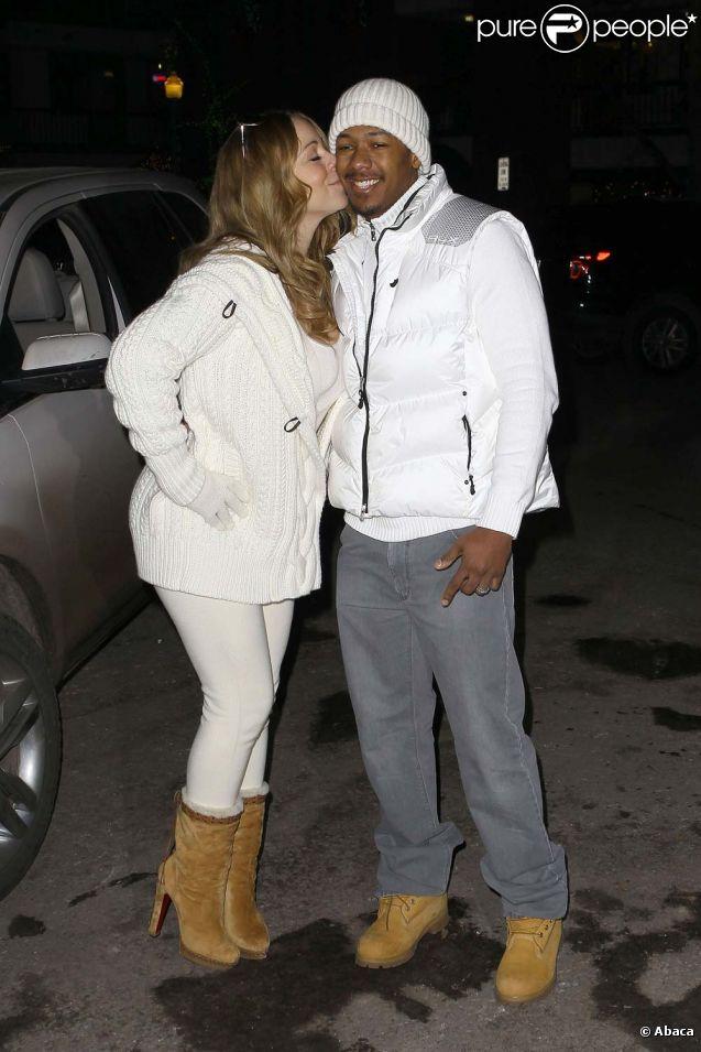 Nick Cannon et Mariah Carey à Aspen, le 2 janvier 2012.