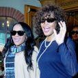 Whitney Houston et sa fille Bobbi Kristina, à Los Angeles, le 9 février 2011.
