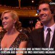 Kate Winslet et son compagnon Ned Rock'n'roll, neveu de Richard Branson, lors des César le 24 février 2012
