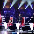 Les quatre coachs de The Voice, Jenifer, Garou, Florent Pagny et Louis Bertignac séduits dans The Voice, samedi 25 février sur TF1
