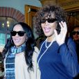 Bobbi Kristina et sa mère Whitney Houston le 9 février 2011 à Los Angeles