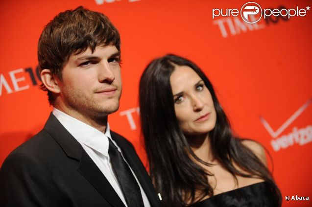 Demi Moore et Ashton Kutcher en mai 2010 à New York