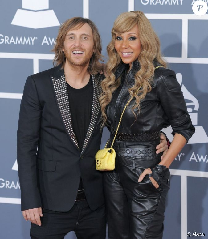 david et cathy guetta los angeles lors des 54es grammy awards le 12 f vrier 2012. Black Bedroom Furniture Sets. Home Design Ideas