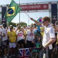 Le prince Harry participe à une course à pied à Rio de Janeiro, le samedi 10 mars 2012.