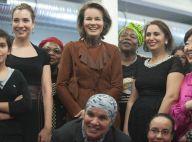 La princesse Mathilde rayonnante pour la Journée de la femme