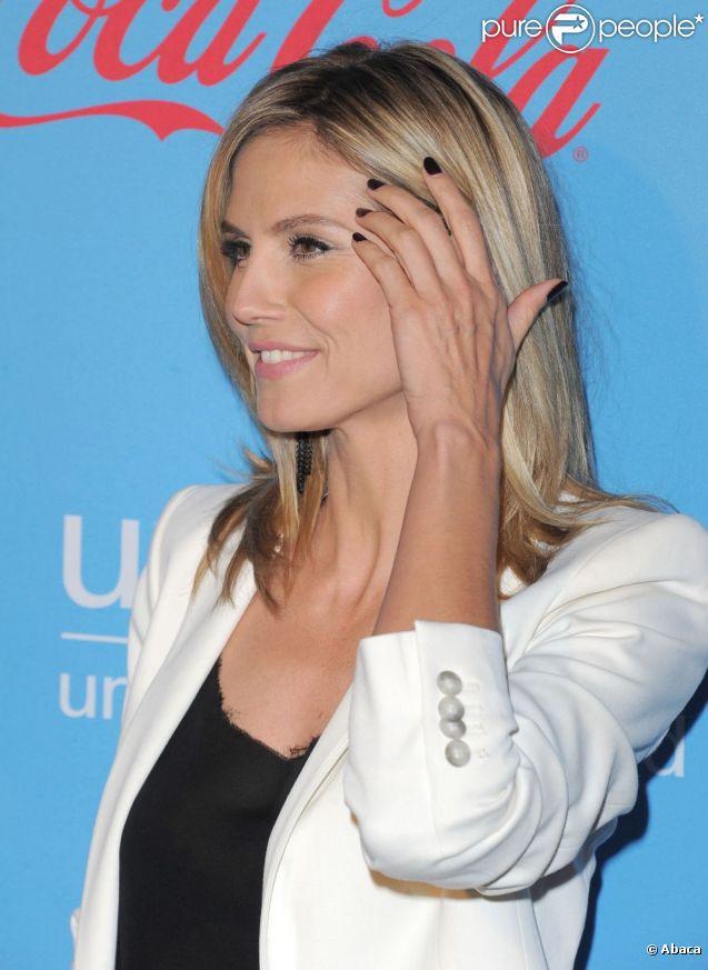 Heidi Klum lors d'une soirée organisée au profit de l'Unicef. Le 15 mars 2012