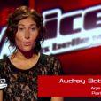 Prestation d'Audrey dans The Voice le samedi 17 mars 2012 sur TF1