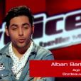 Prestation d'Alban Bartoli dans The Voice samedi 17 mars 2012 sur TF1