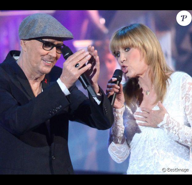 Stone et Charden lors de l'enregistrement de l'émission Les années bonheur, diffusée le 5 mai sur France 2