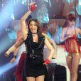 Sabrina lors de l'enregistrement de l'émission Les années bonheur, diffusée le 5 mai sur France 2