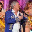 Patrick Sébastien lors de l'enregistrement de l'émission Les années bonheur, diffusée le 5 mai sur France 2