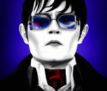 Affiche du film Dark Shadows de Tim Burton avec Johnny Depp