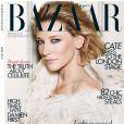 Cate Blanchett en couverture du Harper's Bazaar britannique d'avril 2012.