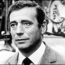 Yves Montand sur le tournage de <em>La Guerre est finie</em> (1966)