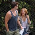 Miley Cyrus et Liam Hemsworth, en août 2011 à Los Angeles.