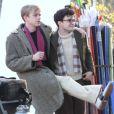 Les comédiens Daniel Radcliffe et Dane DeHaan sur le tournage à New York en mars 2012 du film Kill Your Darlings