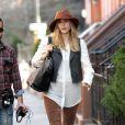 Elizabeth Olsen sur le tournage à New York en mars 2012 du film Kill Your Darlings