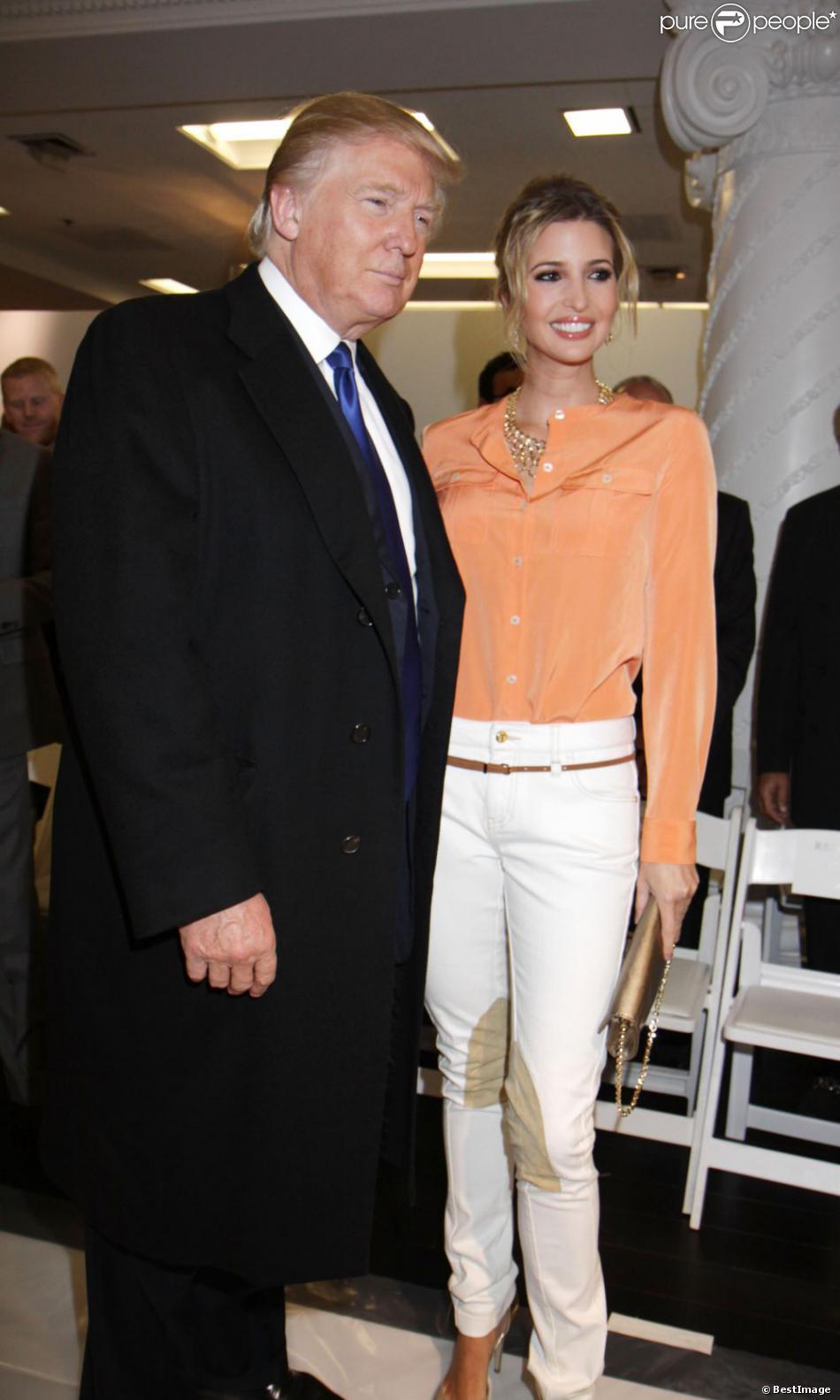 Le papa Donald Trump soutenait sa fille Ivanka pour son défilé à ...