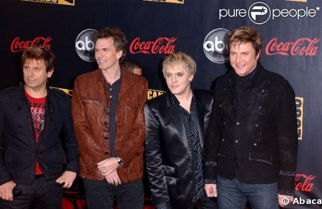 le groupe Duran Duran au grand complet
