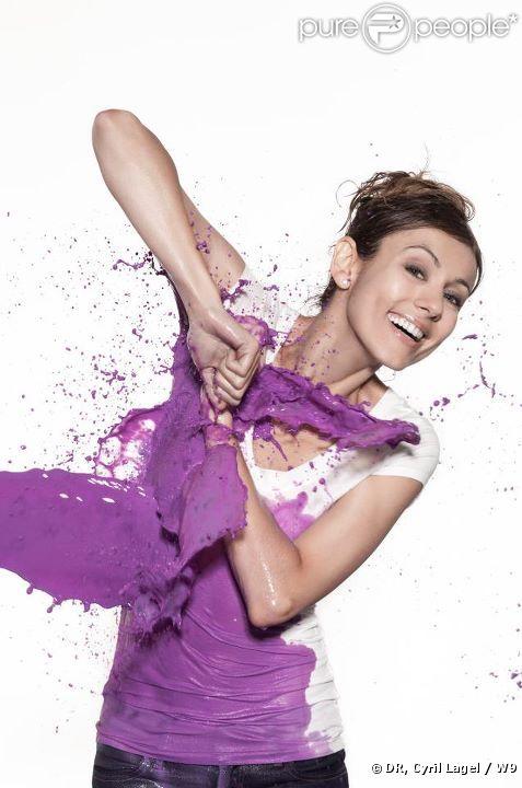 Marie-Ange Casalta, pleine d'humour, pour la rentrée 2011 très colorée de W9