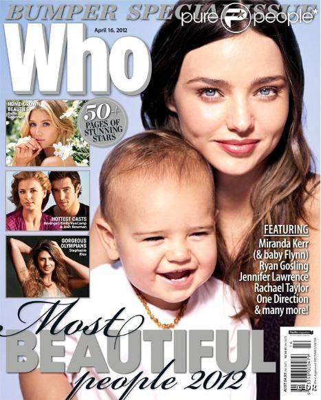 Miranda Kerr et Flynn en couverture du magazine australien Who. Avril 2012.