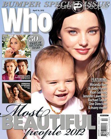 Miranda Kerr et Flynn font la couverture du magazine australien Who